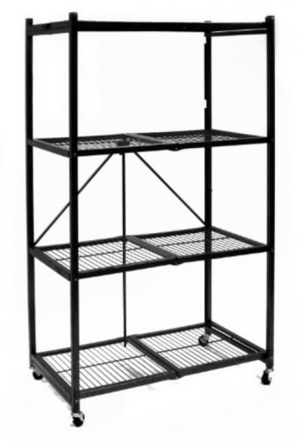 Steel Collapsible Storage Rack 4-Shelf with Wheels, Large - FREE Shipping !!!