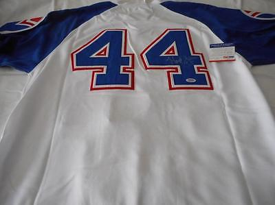 Henry Hank Aaron Autographed Signed Braves Baseball Jersey w COA