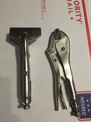 New Mac Tools SHEET METAL CLAMP MLP8SMC, STRAIGHT JAW MLP10SJ LOCKING PLIERS