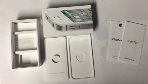 Pre- Owned Genuine iPhone 4S Box Only White 32 GB w/ Manual