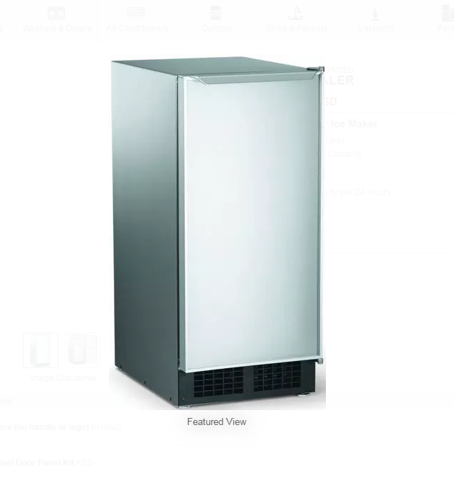 Scotsman Ice Machine Undercounter with Gravity Drain DCE33A-1SSD