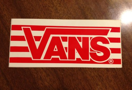 Vintage skateboard sticker Vans Shoes Steve Caballero NOS Powell tony alva deck