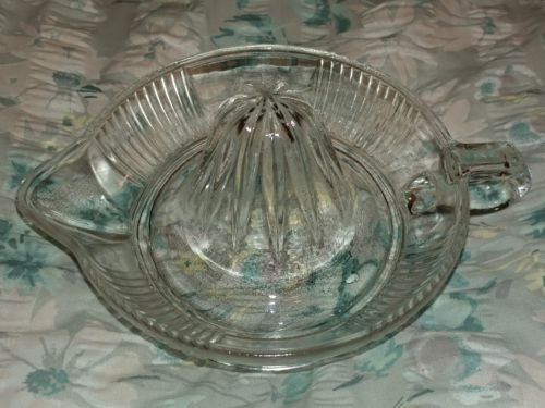 Vintage Clear glass hand juicer