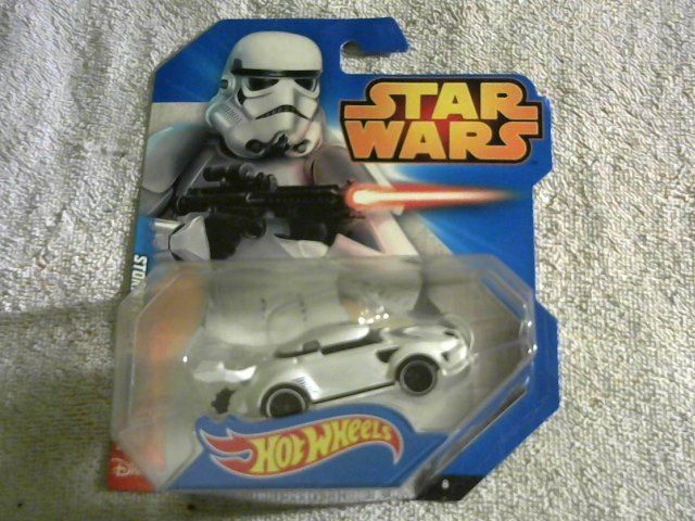 2014 Hot Wheels Star Wars Storm Trooper car, #8 (white).