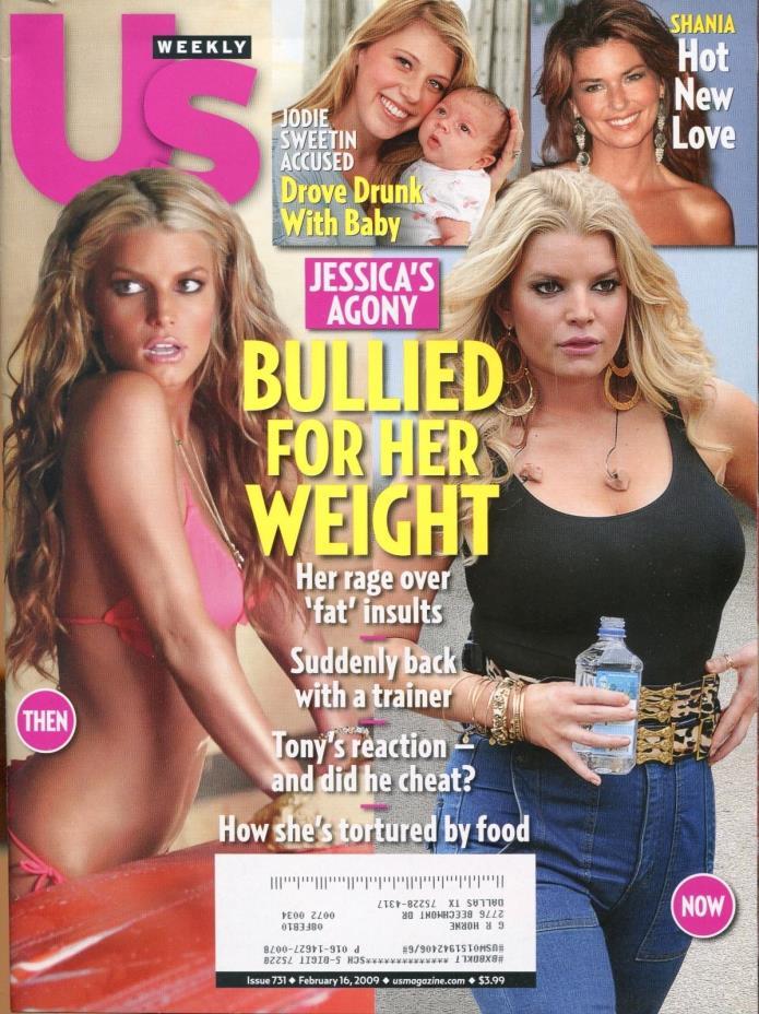 US WEEKLY MAGAZINE February 16, 2009 2/16/09 JESSICA SIMPSON B-2-1