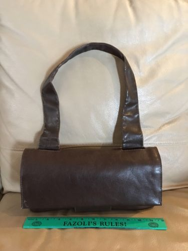 Vintage TANO New York Brown Leather Shoulder Bag Made in Italy ~ Unique ~ Nice