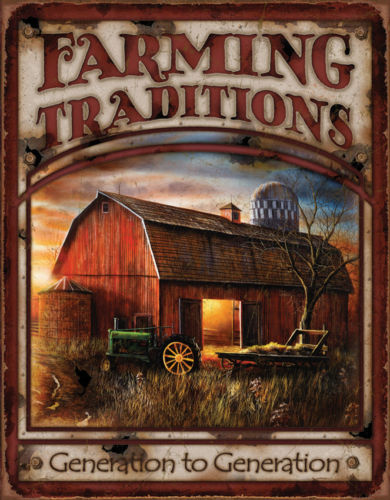 Tin Signs Farming Traditions 1755 Measures 16