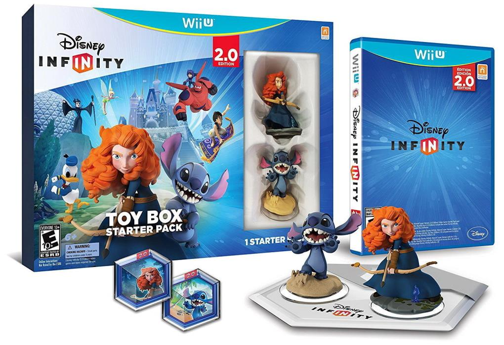 Sealed Wii U Disney Infinity 2.0 Edition Toy Box Starter Pack Video Game Kit NEW