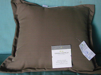 THRESHOLD DEEP SEAT PILLOW BACK WEATHER/SPILL/FADE RESISTANT TAUPE PILLOW--NWT