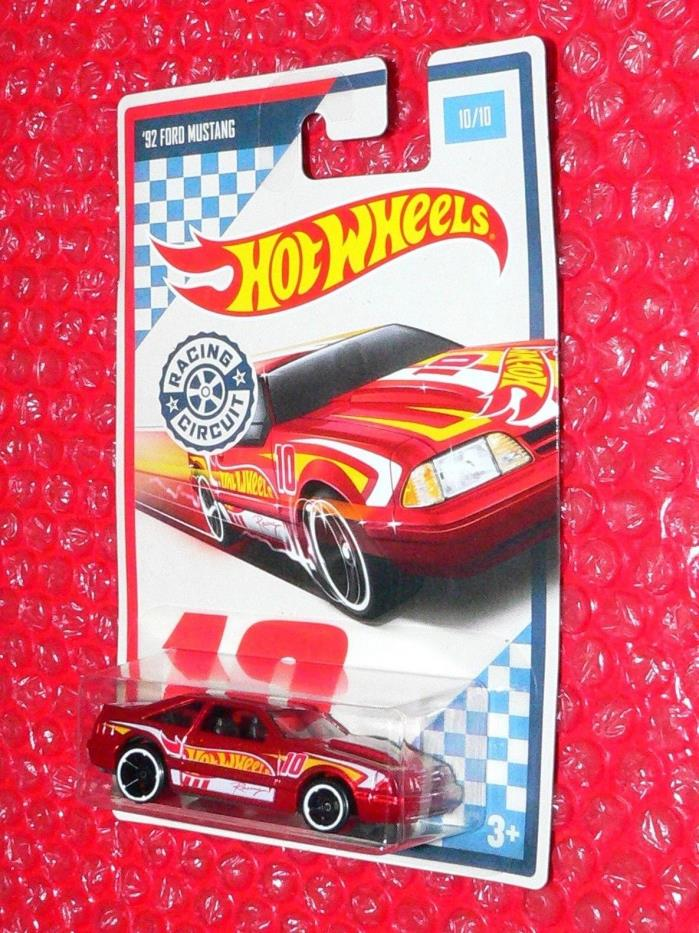 2017 Hot Wheels  '92 FORD MUSTANG  #10 RACING CIRCUIT DWC53-0910