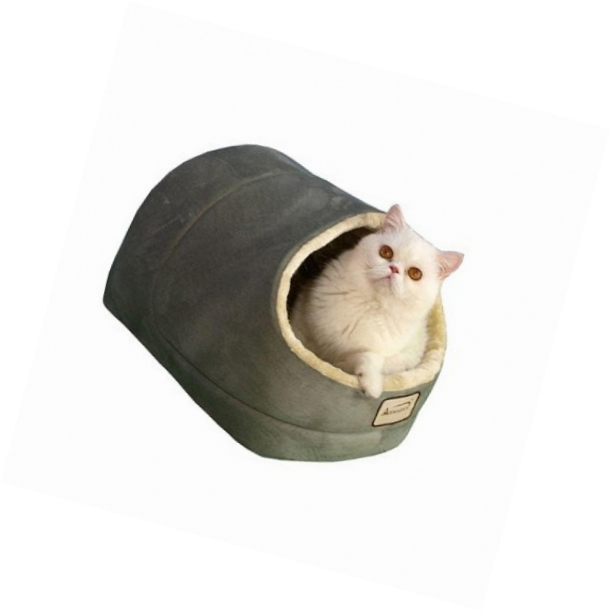 Armarkat Cave Shape Pet Cat Beds for Cats and Small Dogs-Waterproof & Skid-Free