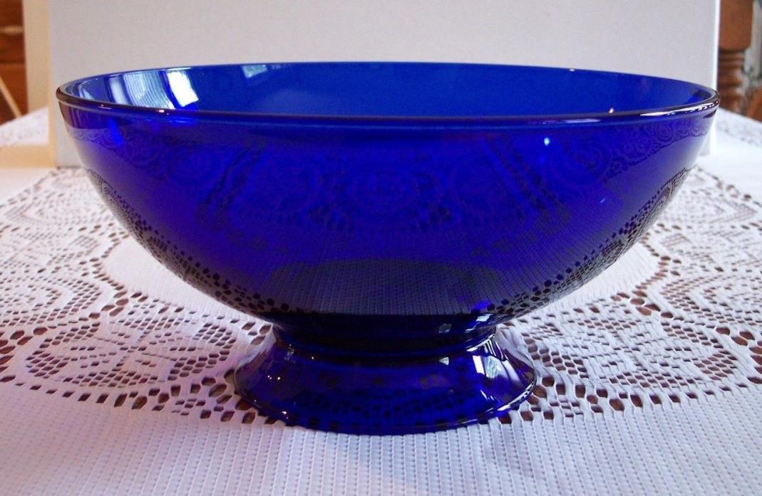Cobalt Blue Glass Bowl Large  10