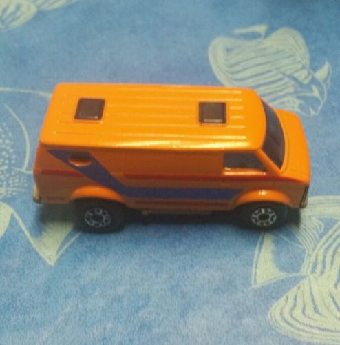 Vintage Matchbox Lesney Superfast 68 Chevy Chevrolet Custom Van Orange Black Red