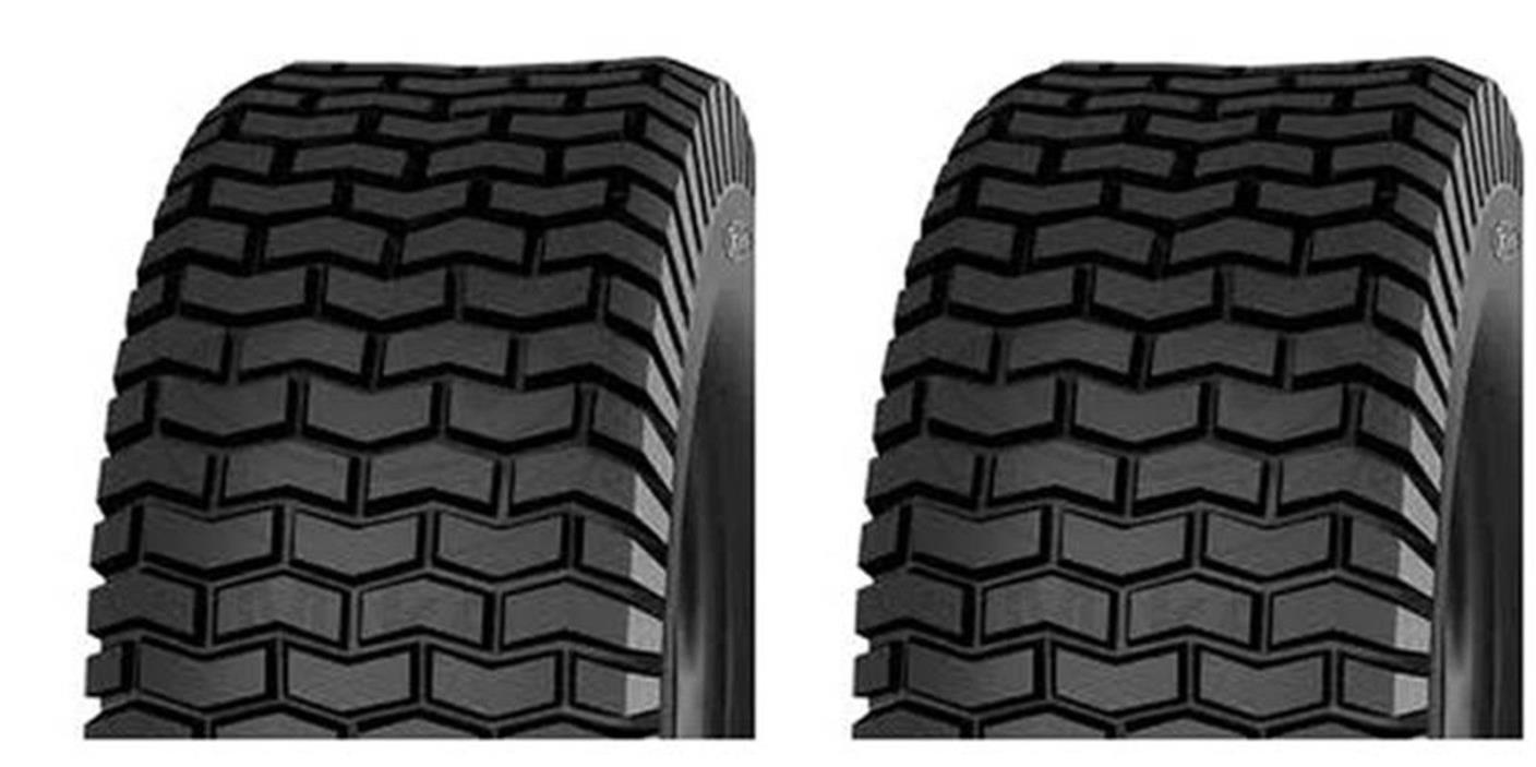 (TWO) 18X8.50-8 18/8.50-8 18X8.5-8 18X8.50X8 Lawn Mower Turf Tires 4 Ply Rated