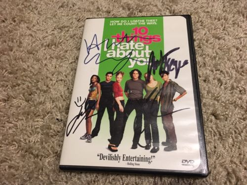10 things I hate about you signed DVD Heath Ledger Julia Stiles Joseph G Levitt