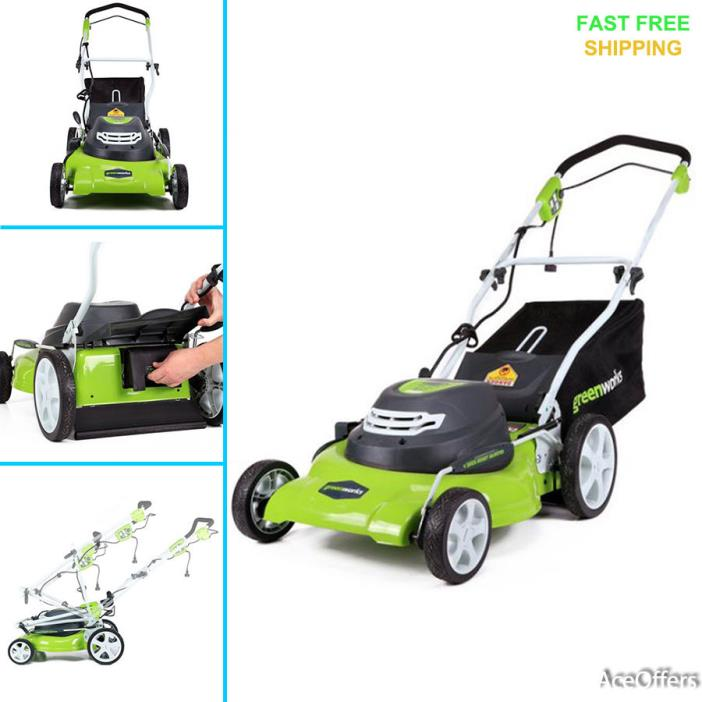 Corded Electric Lawn Mower 20-Inch 12 Amp Garden Yard Tool GreenWorks 25022 New