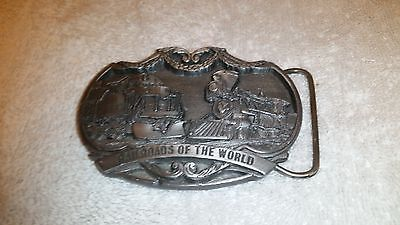 RAILROADS OF THE WORLD BUCKLE - USA - BUCKLES OF AMERICA - BA 220