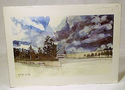 Michael D. Fay Military Artist USMC Water Color Print Art National Museum Marine