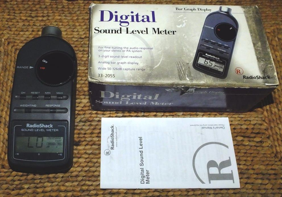 Radio Shack Digital Sound Level Meter 33-2055