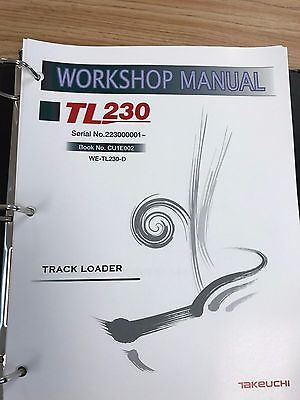 Takeuchi TB230 Mini Excavator Workshop Service Repair Manual