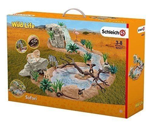 SCHLEICH Playset Wild Life North America Safari Waterhole Set NIB 4321