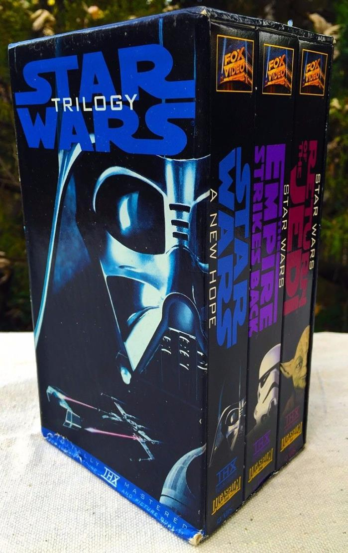 NIB STAR WARS TRILOGY VHS STAR WARS/THE EMPIRE STRIKES BACK/RETURN OF THE JEDI