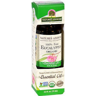 Natures Answer Essential Oil - Organic - Eucalyptus - .5 oz