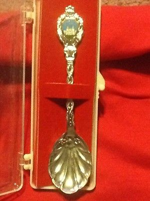 VTG Hearst Castle San Simeon California  ~ Souvenir Collector Spoon Shell Flower