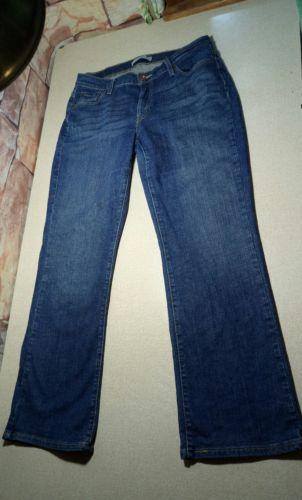 Women's Levi's 529 Curvy Boot Cut STRETCH Denim Blue Jeans Size 14