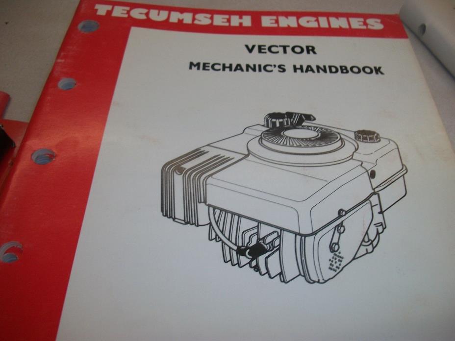 TECUMSEH ENGINE  REPAIR BOOK  VECTOR 695578