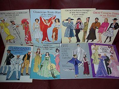 UNCUT Tom Tierney Paper Dolls LOT Great Fashion Designs Seventies Eighties Erte