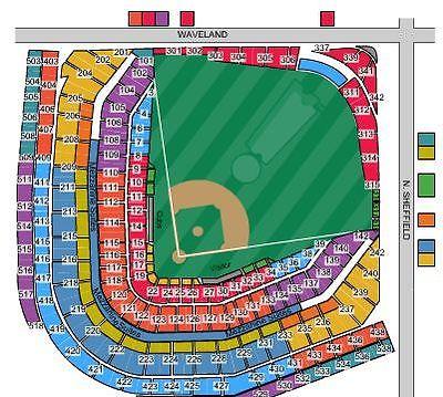 2 Chicago Cubs Vs New York Yankees Tickets 5/6 - Upper Deck Infield SEC 430