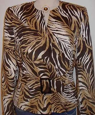 Tiger Print Western Horse Show Hobby Halter Jacket Size 10  Rodeo Apparel Riding