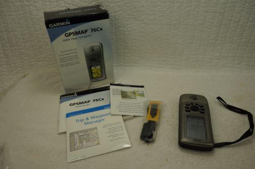 Garmin GPSMAP 76Cx Handheld GPS with Case & Paperwork - LN