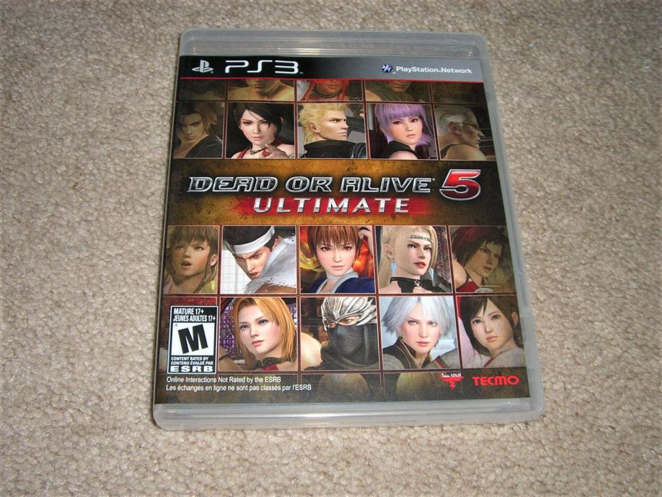 Dead Or Alive 5 Ultimate Playstation 3 Game KOEI SONY PS3 DOA5