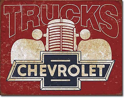 NEW Chevrolet Chevy 1940's Pick Up Trucks Antique Vintage Look Tin Metal Sign