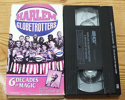 Harlem Globetrotters: 6 Decades of Magic (VHS, 1988) Louis Gossett, Jr. Rare