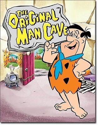 Flintstones - The Original Man Cave  Metal Tin Sign Wall Art