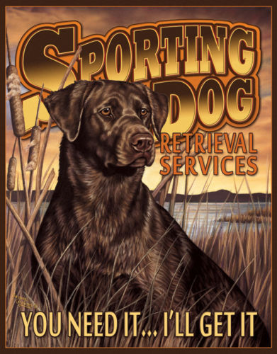 Tin Signs Sporting Dog Services 1772 Measures approximately 16