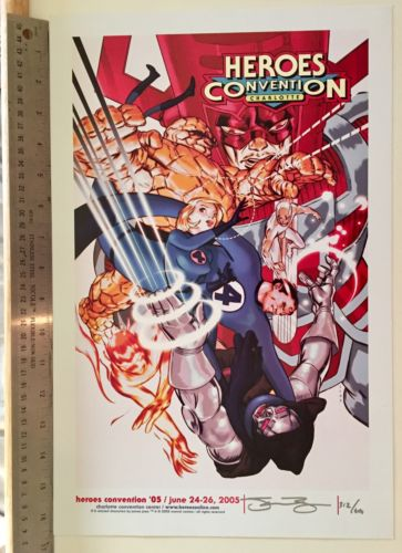 HeroesCon 2005 James Jean Signed Convention Limited Print 312/600 Fantastic Four