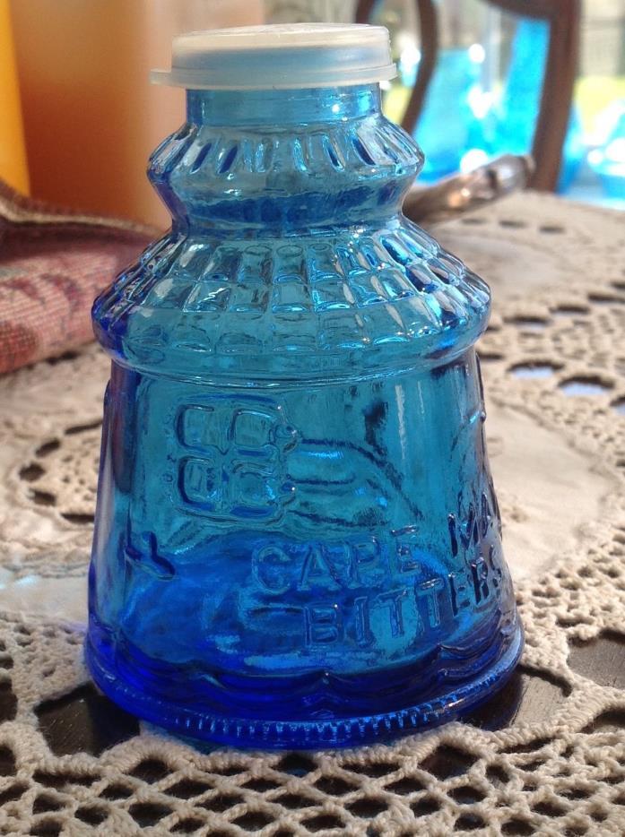 New Cape May NJ Blue Glass Salt & Pepper Shakers Ink Well? Wheaton