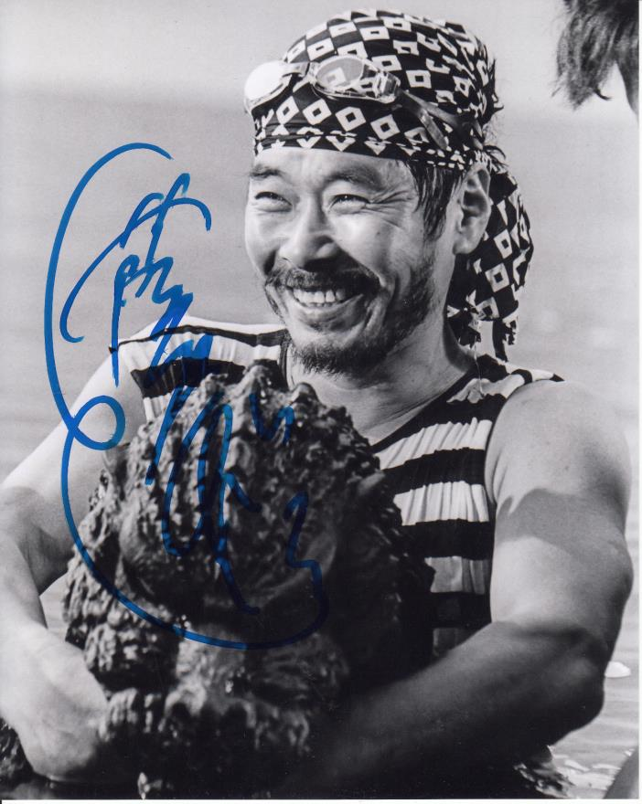 Godzilla costume actor Kenpachpro Satsuma Autograph 8x10 Convention Photo
