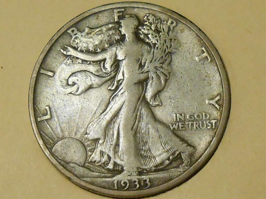 1933S VF Walking Liberty Half Dollar Ref#60