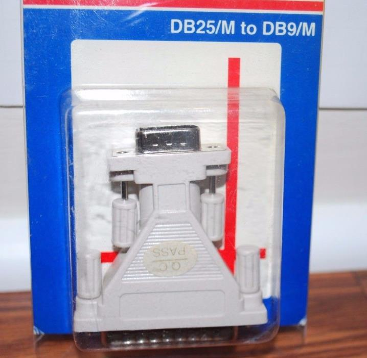 (NEW SEALED) SERIAL ADAPTOR DB25/M TO DB9/M