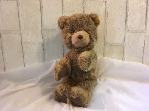 Vintage Unusual Steiff  Teddy Bear  Dralon Plush  1960s Vintage