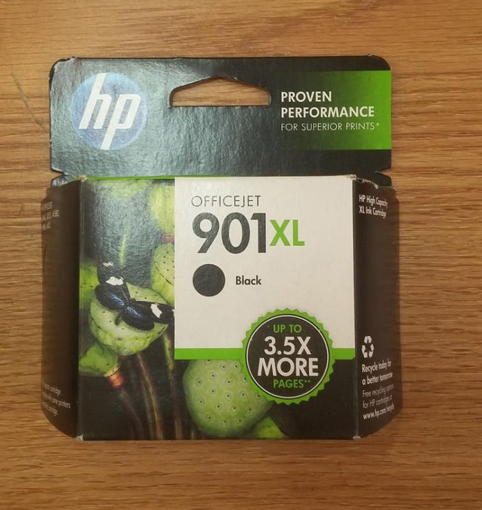 Genuine HP 901XL Black Ink Cartridge Expiration Date July 2013