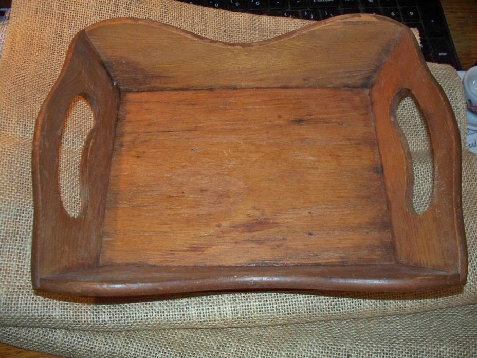 WOODEN TRAY, 7