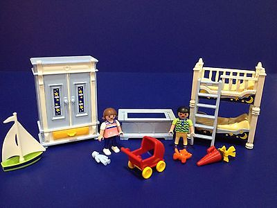 PLAYMOBIL VICTORIAN CHILDS BEDROOM Bunkbeds Mansion 5328 6250 5300 95% Complete