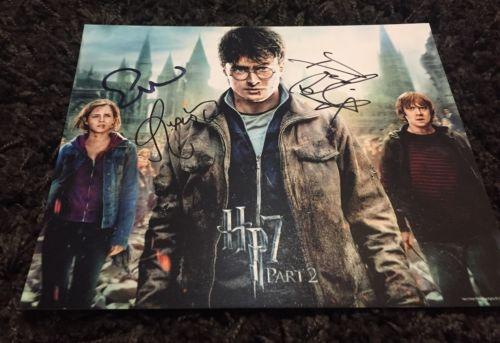 Harry Potter signed 8x10 Emma Watson Daniel Radcliffe Rupert Grint HP7