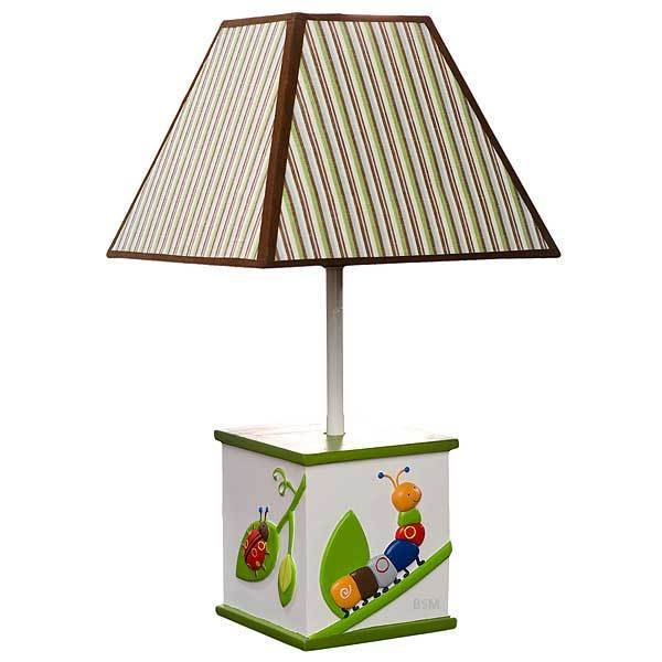 Cute as a Bug Lamp Base Shade Ladybug Caterpillar Baby Infant Crib Bedding NEW